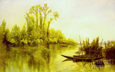 Painting - Les Iles Vierges A Bezons Reproduction by Mukta Gupta