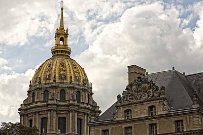 Photograph - Les Invalides Eglise Du Dome 2 by Hany J