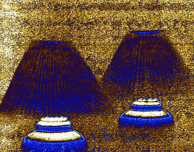 Digital Art - Les Lampes Bleues by Will Borden