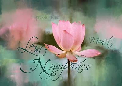 Photograph - Les Nymphaes by Carla Parris