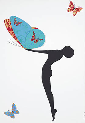 Dance Art Painting - Les Papillons, 2008 by Jenny Barnard