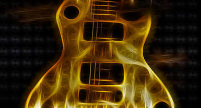 Electric Guitar Photograph - Les Paul - Electric Blonde by Bill Cannon