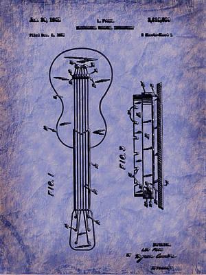 Digital Art - Les Paul Guitar Patent by Barry Jones