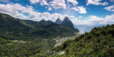 Photograph - Les Pitons by Chris Smith
