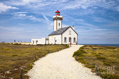 Photograph - Les Poulains Lighthouse Belle Ile Brittany by Colin and Linda McKie