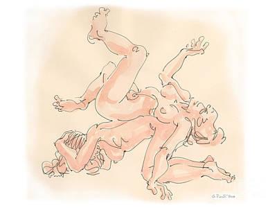 Drawing - Lesbian Drawings 3 by Gordon Punt