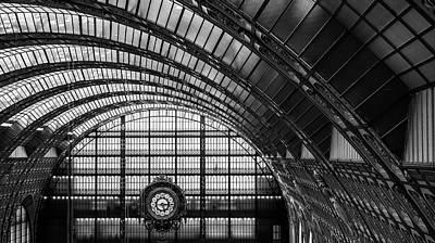 Railway Station Photograph - L'escargot Du Temps by Marc Pelissier