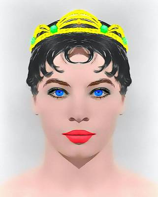 1955 Movies Mixed Media - Leslie Caron Alias In The Glass Slipper by Art Cinema Gallery