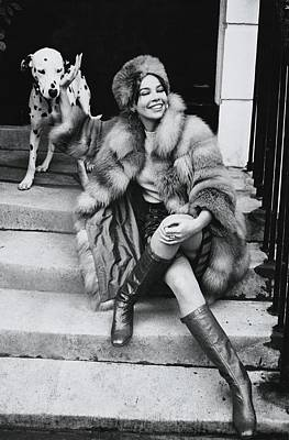 Photograph - Leslie Caron Wearing A Fox Coat by Henry Clarke