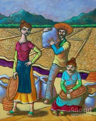 Os Painting - Leslie Gayle At Billy Sa Tahipan by Paul Hilario