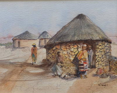 Painting - Lesotho Family by Harold Kimmel
