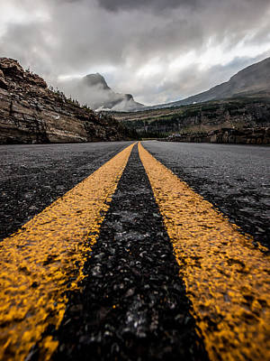 Asphalt Photograph - Less Traveled by Aaron Aldrich