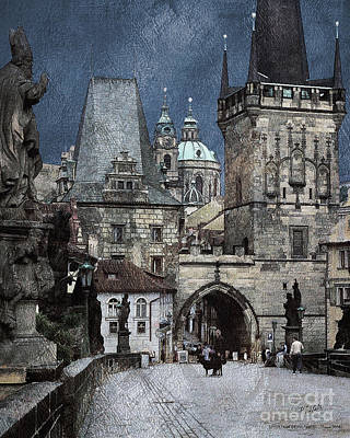 Lesser Town Bridge Towers Art Print by Pedro L Gili