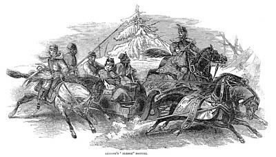 Lessing Sleighing, 1845 Art Print by Granger