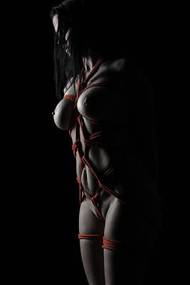 Black And White Bondage Photograph - Lession Learned by Kevin McSparron