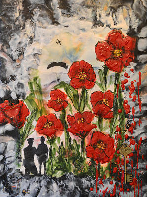 Soldiers Mixed Media - Lest We Forget  by Sally Clark
