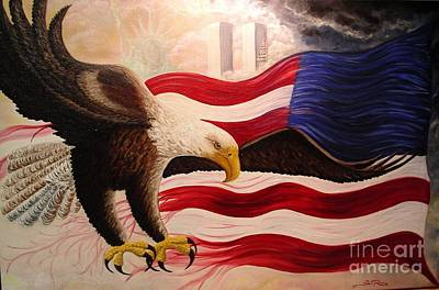 Patriotism Painting - Lest We Forget by Stacey Rivera