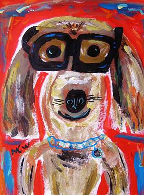 Mary Carol Art Drawing - Lester In Glasses by Mary Carol Williams