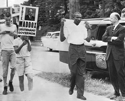 Segregation Photograph - Lester Maddox Picketed by Underwood Archives