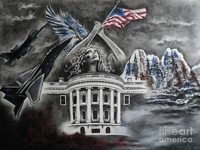 Whitehouse Wall Art - Drawing - Let Freedom Ring by Carla Carson