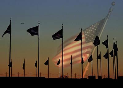 Washington Monument Digital Art - Let Freedom Ring by Lori Deiter