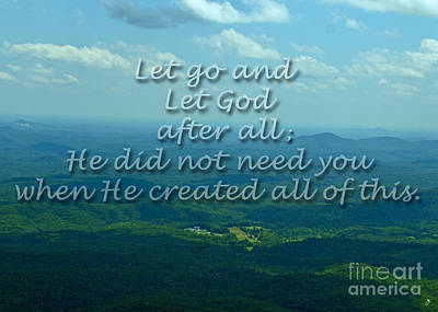 Photograph - Let Go And Let God by Sandra Clark