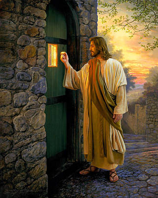 Christ Painting - Let Him In by Greg Olsen