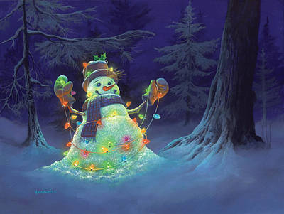 Christmas Painting - Let It Glow by Michael Humphries