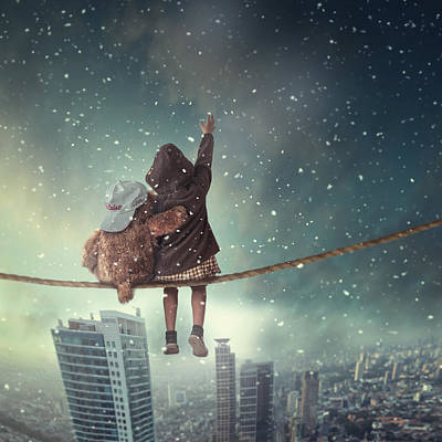 Skyscraper Photograph - Let It Snow by Hardibudi