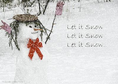 Crystal Photograph - Let It Snow Let It Snow by LeeAnn McLaneGoetz McLaneGoetzStudioLLCcom