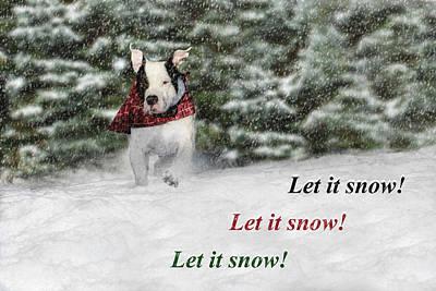 Let It Snow Art Print by Shelley Neff