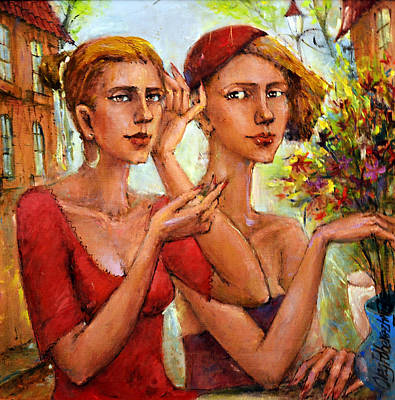 Let Love Flow Art Print by Oleg  Poberezhnyi