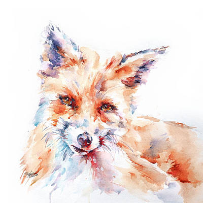 Painting - Let Me Be . . . Red Fox by Stephie Butler