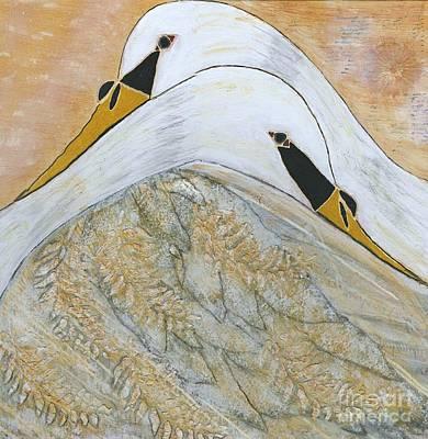 Swan Mixed Media - Let Me Hold You by Nancy TeWinkel Lauren