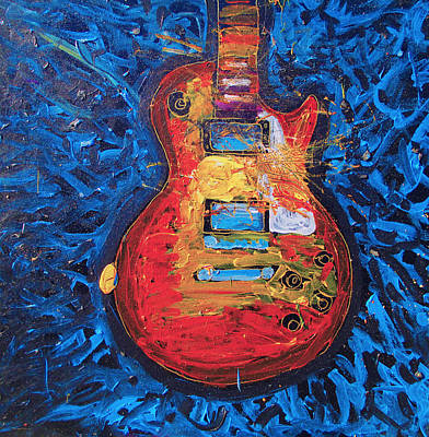 Painting - Let Me Play Your Les Paul by Neal Barbosa