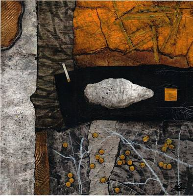 Abstract Collage Mixed Media - Let Nature Enter Your Body  by Laura  Lein-Svencner