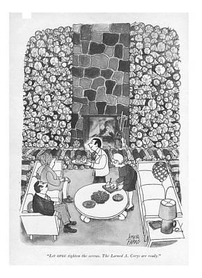 Let Opec Tighten The Screws. The Larned A. Corys Art Print by Joseph Farris