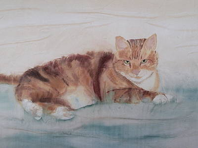 Painting - Let Sleeping Cats Lie by Hazel Millington