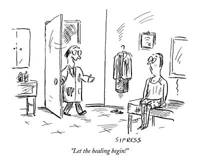 Fitness Drawing - Let The Healing Begin! by David Sipress