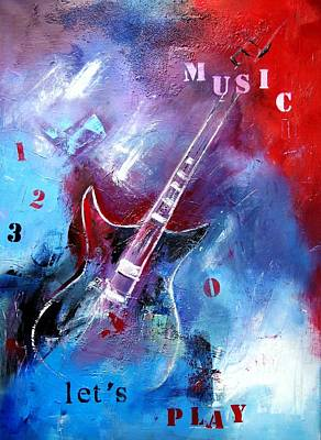 Painting - Let The Music Play by Elise Palmigiani