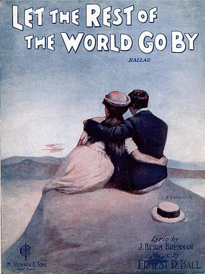 Let The Rest Of The World Go By Art Print by Mel Thompson