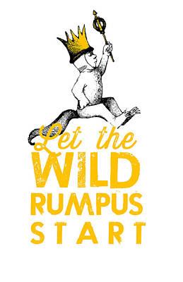 Childrens Books Digital Art - Let The Wild Rumpus Start by Kenneth Wilkins