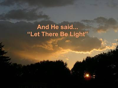 Photograph - Let There Be Light by Carolyn Jacob