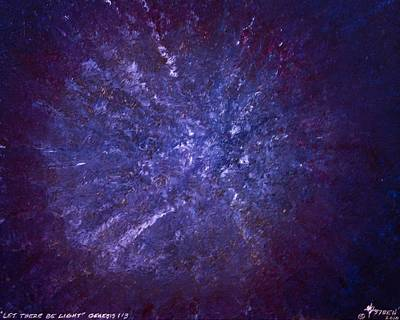 Outerspace Mixed Media - Let There Be Light by Christine Nichols
