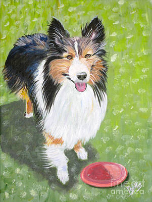 Painting - Let Us Play  Border Collie by Phyllis Kaltenbach