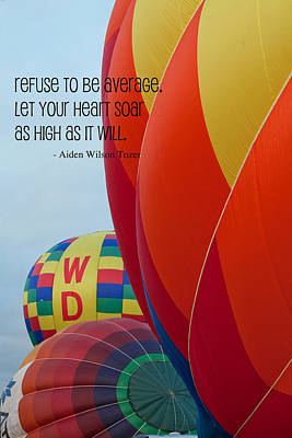 Hot Air Balloon Mixed Media - Let Your Heart Soar by Bonnie Bruno