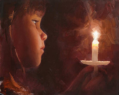 Religious Artist Painting - Let Your Light Shine 1 by Karen Whitworth