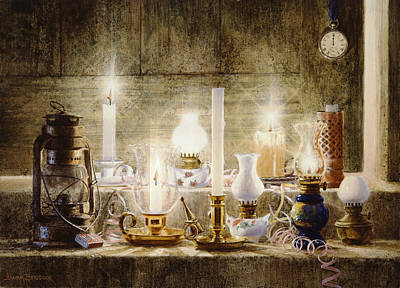 Oil Lamp Painting - Let Your Light Shine by Graham Braddock