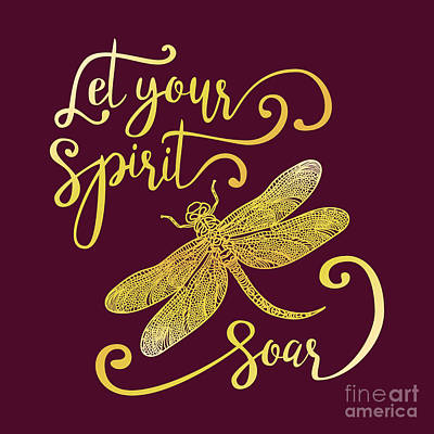 Tribal Wall Art - Digital Art - Let Your Spirit Soar. Hand Drawn by Trigubova Irina