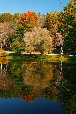 Photograph - Letchworth Autumn Reflections by Richard Engelbrecht
